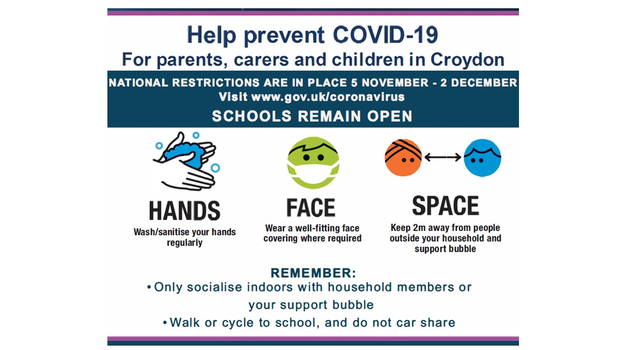 Covid Information Poster from Croydon Council