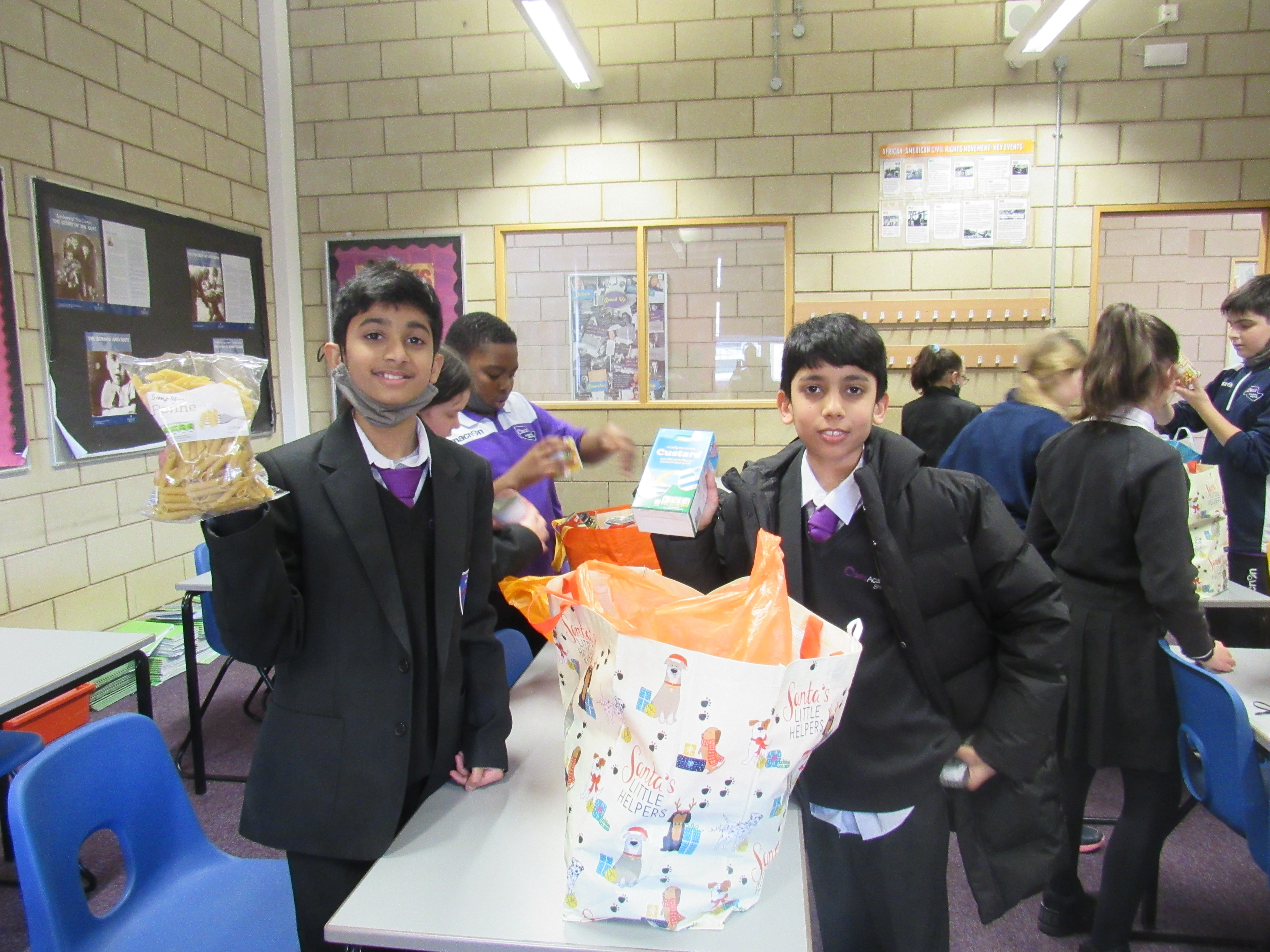 Year 7 WE Charity Committee Food Bank Donations